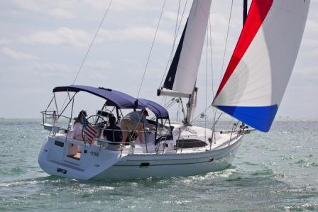 Naviga a vela da poppa lato di dritta